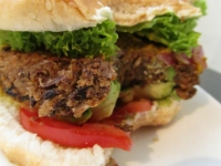 Grilled Vegan Bean Burger